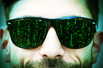 The Matrix hacker - illustration