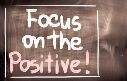 Focus on positive - illustration