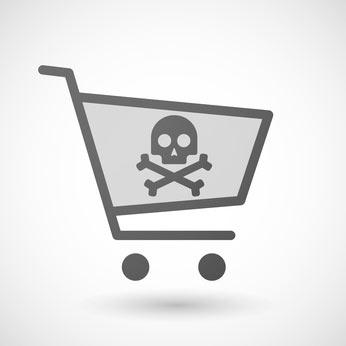 Panier d'achat dangereux