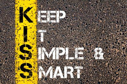 Keep it simple - illustration