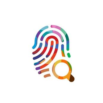 digital fingerprint security audit illustration