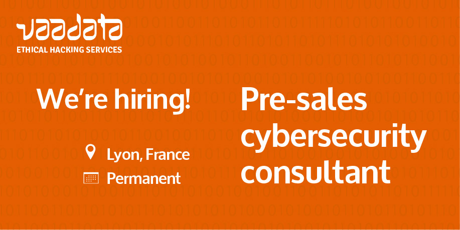 We're hiring a pre-sales cybersecurity consultant