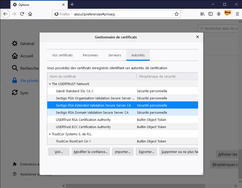 Certificat Vaadata - details