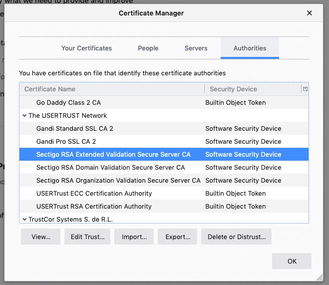 Certificate Vaadata - details
